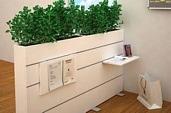 Raumteiler Multiwa mit Pflanzen, multifunktional nutzbar