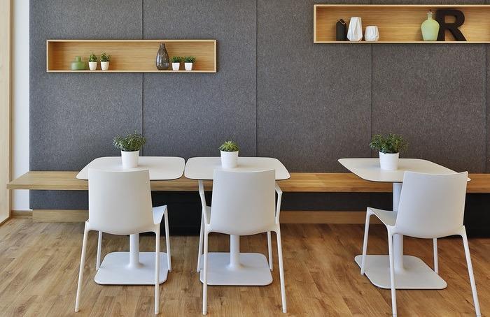 Kantinenmöbel Open space Besprechungsraum Pausenmöbel Teeküche Teamzonen