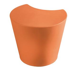 Kantinenhocker Apple in orange Kunststoff abwaschbar Sitzplatz