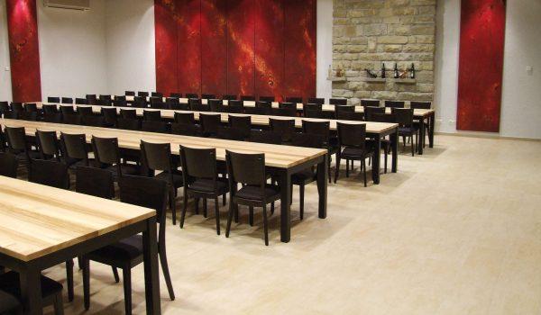 kantinenholzstühle luxor 11468 Tischplatte hell ergonomische Sitzmulde stabil