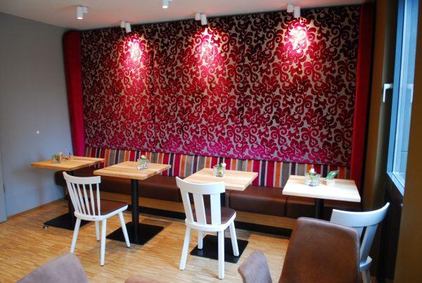 Kantinensitzbank Wandverkleidung Polsterelement Bistro Lounge Betriebsrestaurant