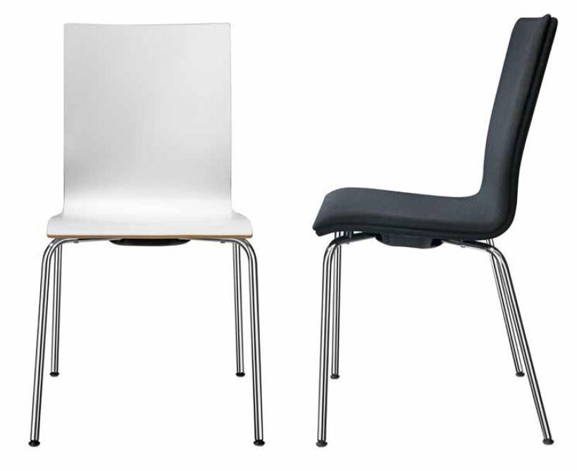 Kantinenstühle, Stühle für die Kantine und Pause mit Holzsitzschale