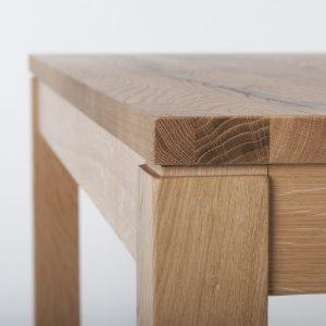 kantinentisch 30201 tischkante detailansicht Holzgestell Massivplatte Spanplatte Buche