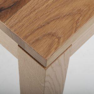 Vierfuss Holzgestell Kantinentisch Buche Eiche Massivplatten Spanplatten Lackierung 2