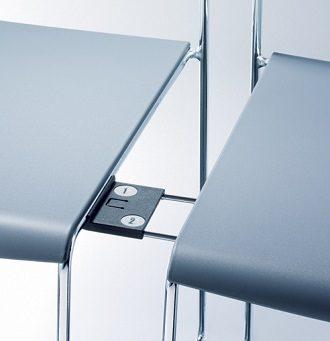 Mehrzweckstuhl outline Reihenverkettung Stuhlnummern Reihennummern stapelbar
