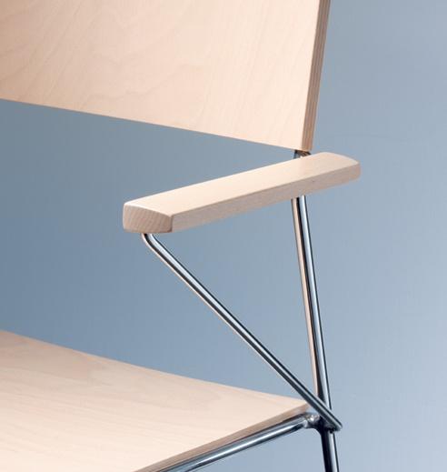 Mehrzweckstuhl outline anpassbar Materialien Farben Kantinenstuhl