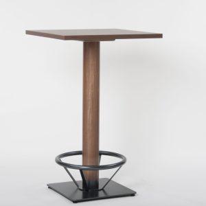 Stehtisch Kantine SN31266, Säulentisch Holzgestell für Kantinen