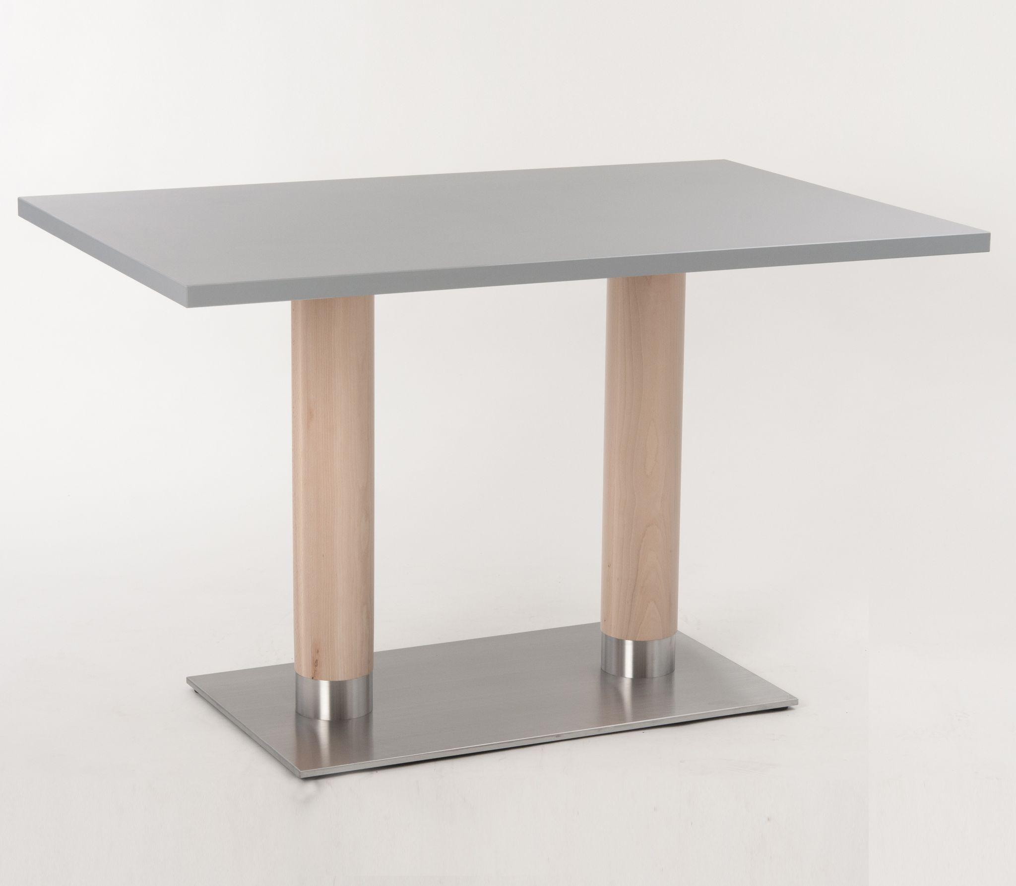 holzs ulen kantinentische tischs ule rund oder rechteckig. Black Bedroom Furniture Sets. Home Design Ideas