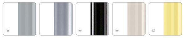 Farben Gestell Kantinenstuehle grau aluminium schwarz elfenbein gelb uni Kantinenmoebel