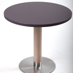 Holzsäulen Kantinentische Tischsäule rund