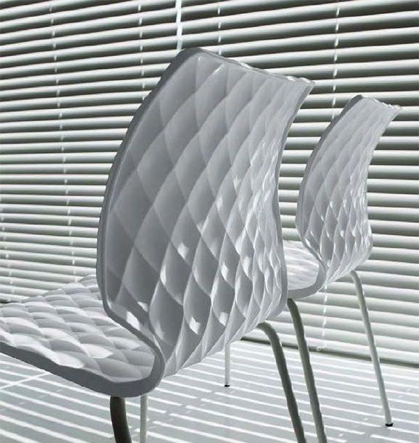 Kantinenstühle Kunststoffschale weiss
