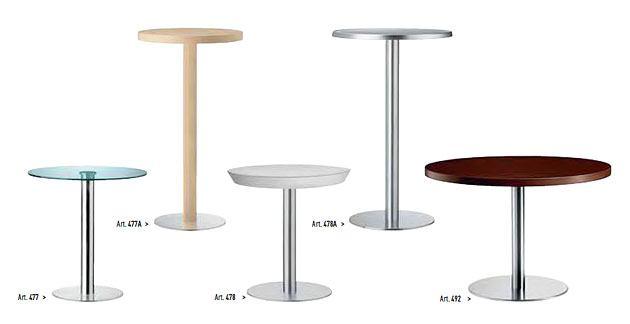 Kantinentisch xt Glastischplatte Holz Edelstahl runde Fußplatte