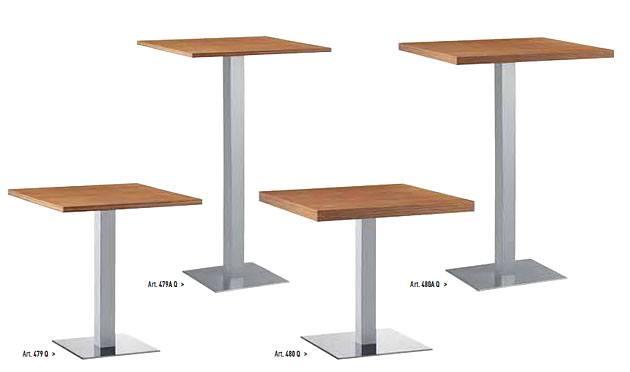 Säulentisch XT Tischsäule Stahl oder Holz rechteckig und rund