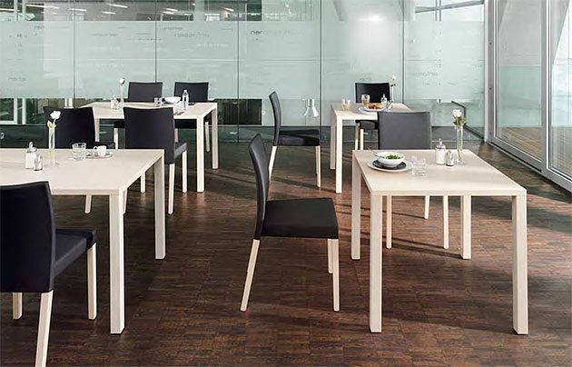 Kantinentische client zerlegbar verkettbar flexibel Kantinenmoebel Betriebsrestaurant Cafeteria