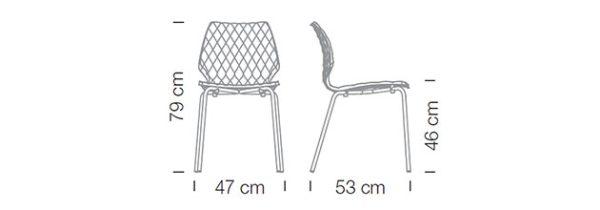 Kunststoffschalenstühle Vierfussgestell Maße robust Stapelstuhl Kantinenstühle pflegeleicht