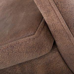 Loungesessel-12494 clubsessel Leder Nähte Detailansicht Sitzflaeche Vollpolster braun