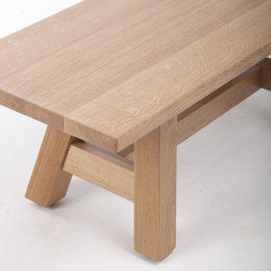 Kantinensitzbank SN 40180, Kantinenbank aus massivem Holz, stabil robust