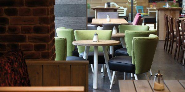 Retrosessel Fritz Impressionen Betriebsrestaurant Clubsessel multifunktional Vollpolster