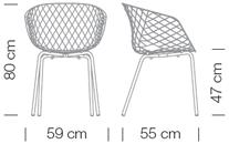 Varianten Massangaben Schalensessel uni-ka Kantinensessel ergonomisch Griffloch