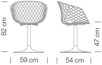 Maße uni-ka mit Säulengestell
