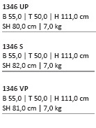 Maße UNObar Kantinenhocker stapelbar Kantineneinrichtung Kantinenmoebel