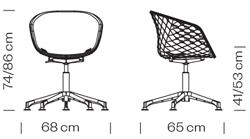 Varianten Massangaben Schalensessel unika Kantinensessel ergonomisch Griffloch 12