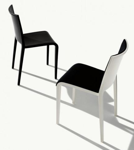 Kunststoffstuhl Nassau Sitzschalen aus Polypropylen mit Bezugsstoff Kantinenmoebel