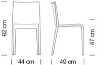 Stapelstuhl Nassau Schalenstuhl Abmessungen stapelbar Polster stabil leicht Sitzkomfort