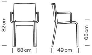 Schalenstuhl Nassau mit Armlehnen Abmessungen Stapelstuhl Glasfaser leicht