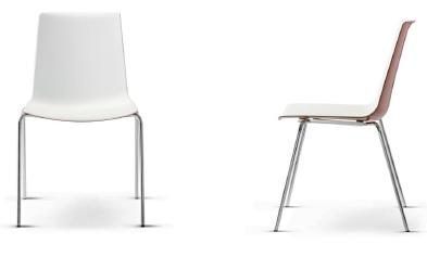 Kantinenstühle nooi mit Kunststoffschale